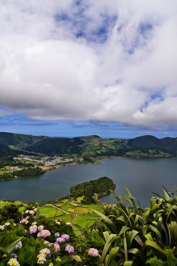 The Archipelago of the Azores is composed of nine volcanic islands situated in the North Atlantic Ocean, and is located about 1,500 km west of Lisbon and about 1,900 km  southeast of Newfoundland.