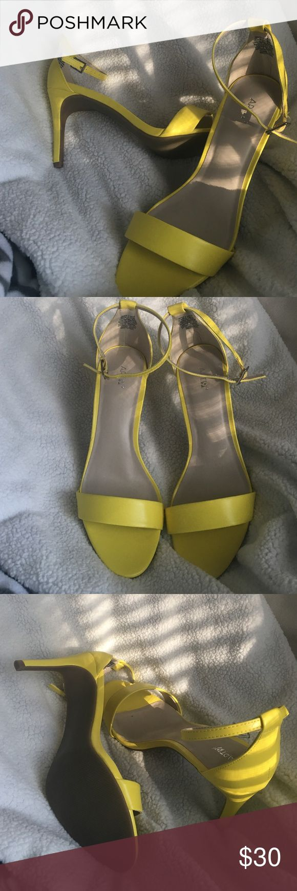 Apt 9 Lemon Yellow High Heels Brand new high heels size 9. Perfect condition!! Make an offer! :-) Apt. 9 Shoes Heels