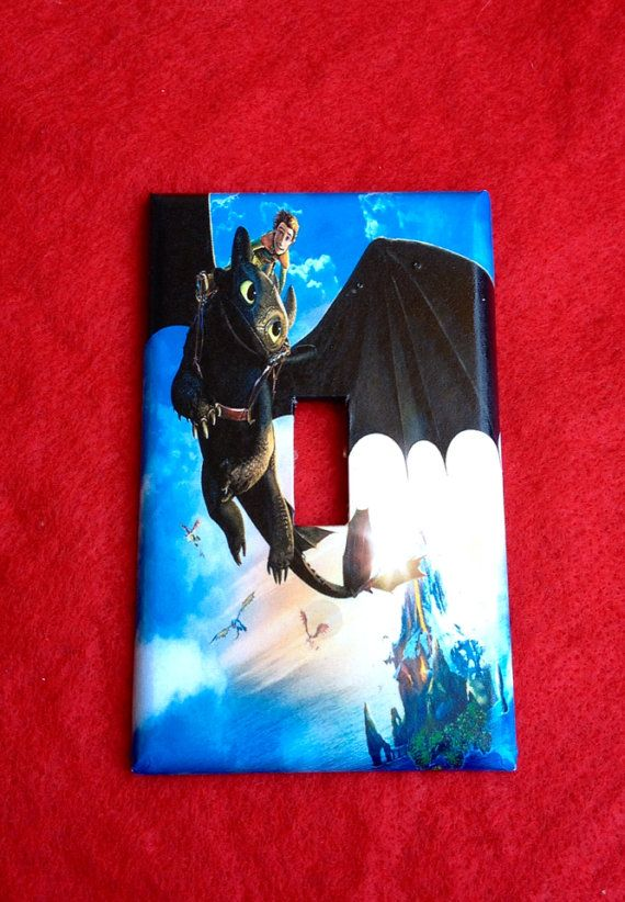 How to Train Your Dragon single light switch cover    by Nerdgasmo. 179 best How to Train Your Dragon images on Pinterest
