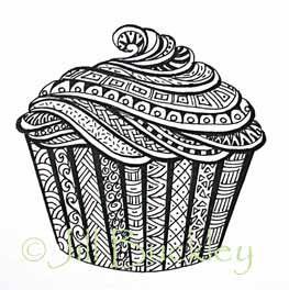 Tangled cupcake-  jill buckley>My Doodles  picasaweb.google.com
