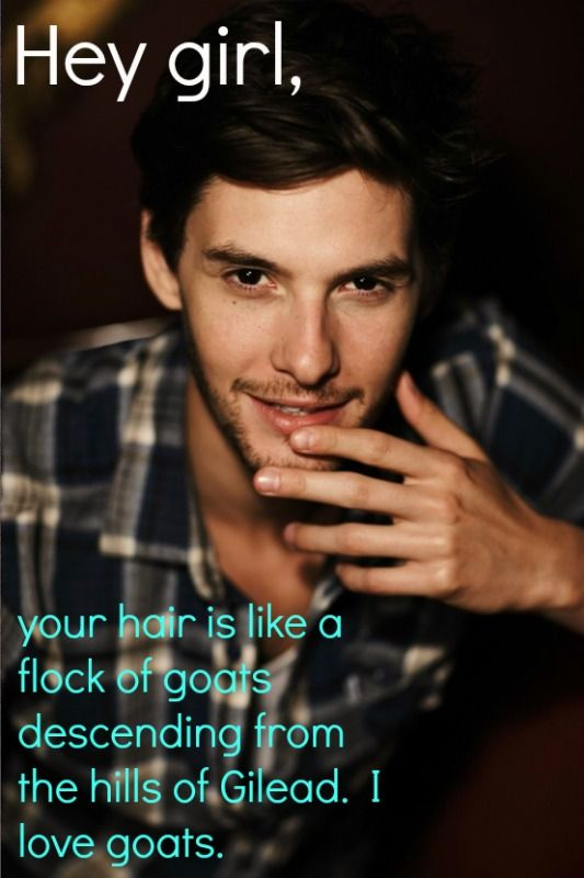 Funny line, but I confess, I'm mostly repinning this because of Ben Barnes <3 ;)