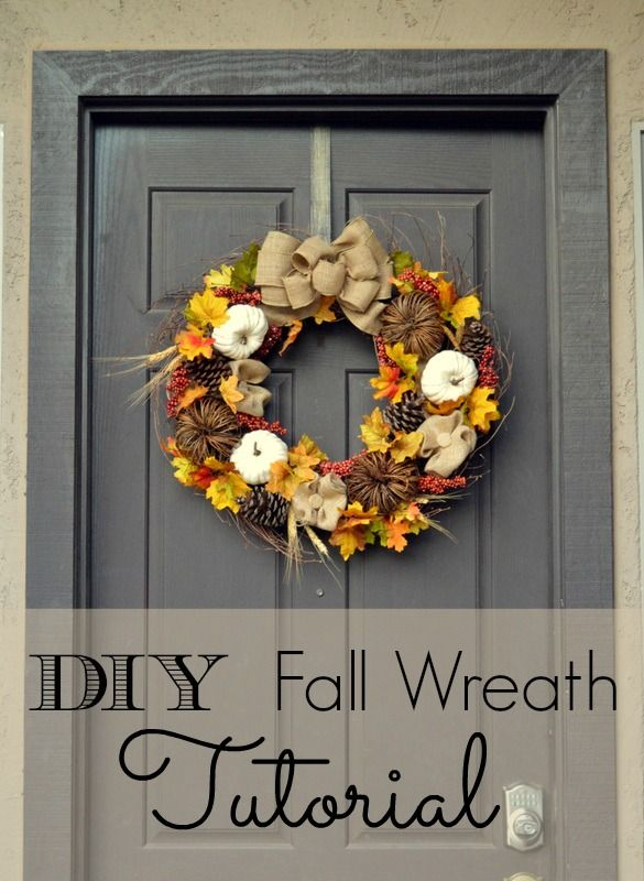 Diy Fall Wreath Tutorial From Home Easy Diy And Burlap