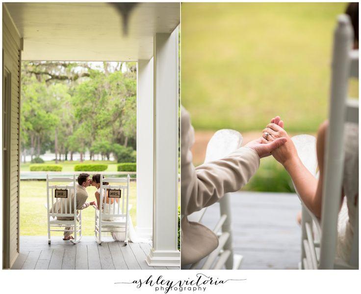 Eden Gardens Wedding | 30A Santa Rosa San Destin FL | Old South Live Oaks Bride & Groom Portrait | Historic Estate + Rocking Chairs | View more: http://www.ashleyvictoriaphotographyblog.com/2013/05/07/eden-gardens-state-park-wedding-photography-pam-bill-are-married/