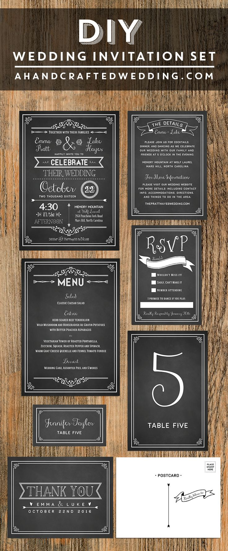 movie ticket stub wedding invitation%0A Vintage Typography Custom Designed Theater Wedding Invitation Set with  Antique Influence   Vintage typography  Custom design and Typography