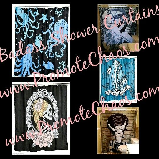 Limited Edition Badass Shower Curtains ★ Free US Shipping! 560+ Beautiful & Awesome items. Discounts are available. http://stores.ebay.com/PromoteChaosCollectiblesAndMore ★ #gifts #freeshipping #shower #showercurtain #home #beautiful #purses #pretty #limitededition #rare #punk #Asian #Frankenstein #skull #skeleton #Halloween #sea #sealife #ocean #octopus #bride #sailor #dogs #tattoos #monster #shark #tattooed