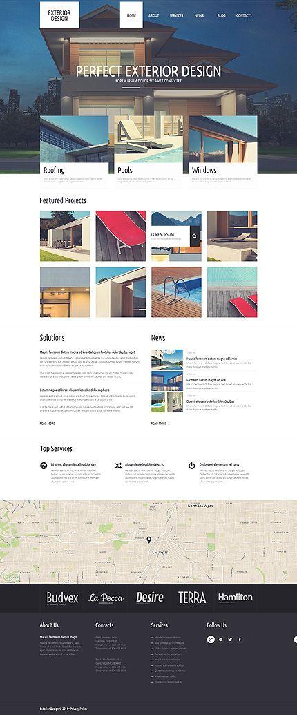 Template 51306 - Exterior Design  Responsive WordPress  Theme