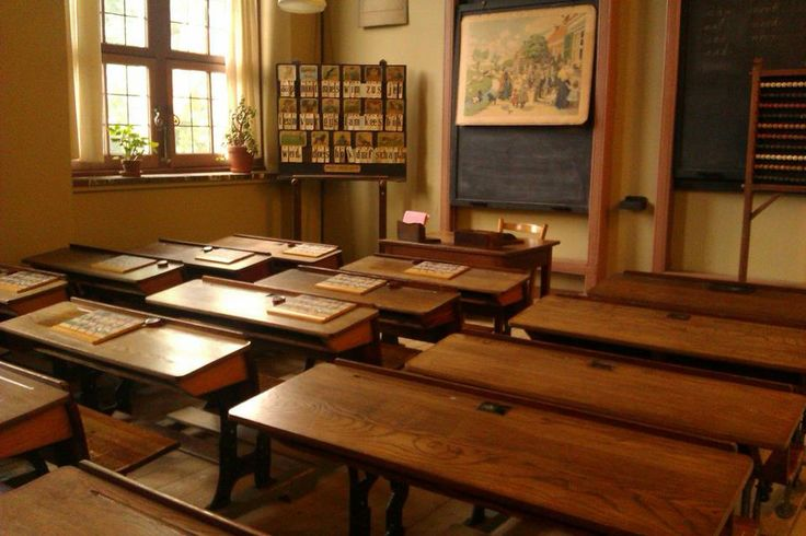 De school van vroeger