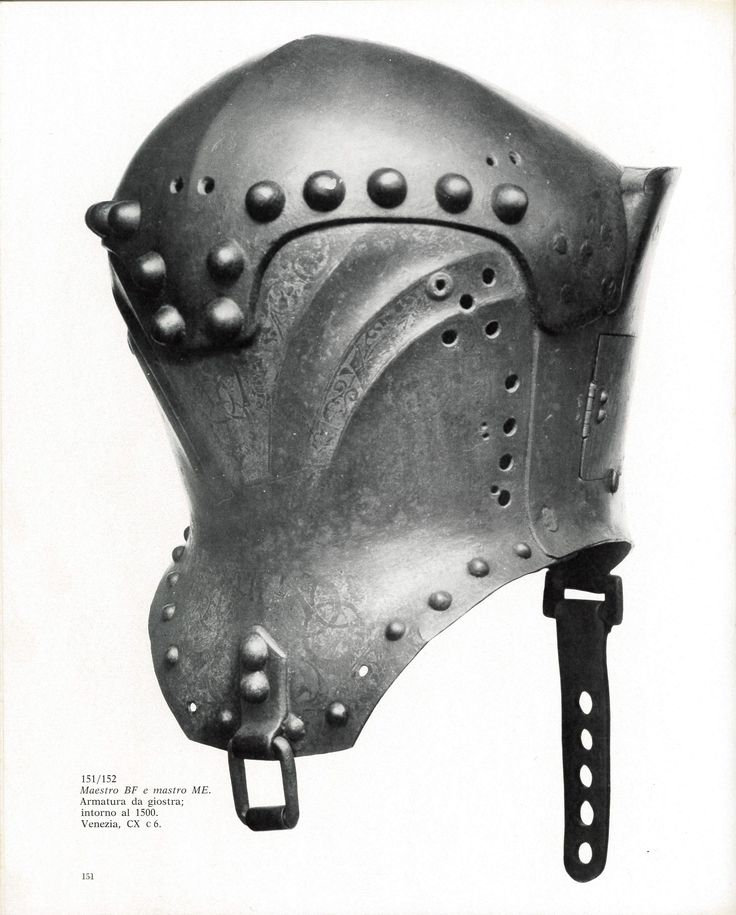 Italian jousting helm, from 1480