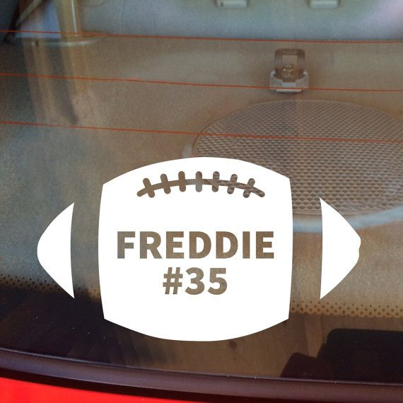 Football Decal, Football Car Decal, Personalized, Football, Sports Decal, Football Team Decal, High School Sports, Laptop Decal, Vinyl Decal by DesignsByTenisha