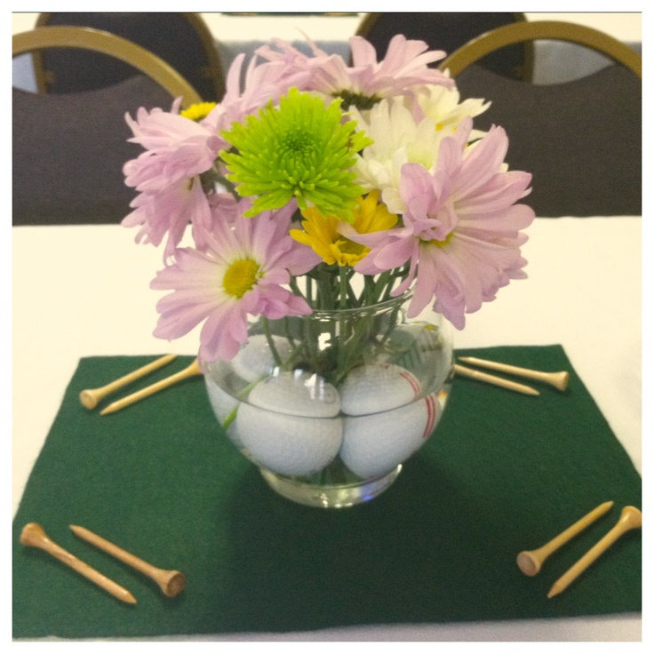 Golf Course Wedding Ideas: Golf-themed Centerpieces For My Father-in-law's Retirement