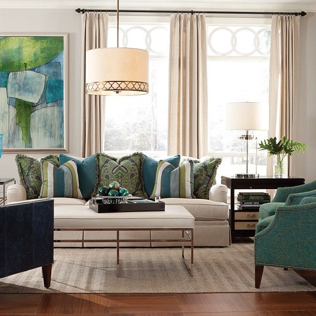 We're so in love with this color combination from Huntington House Furniture! #Blue and #Green