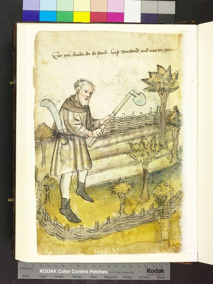 Berchtold (Berthold), gardener, from Mendel Housebook, c. 1425