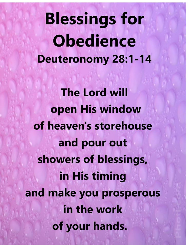 Blessings for Obedience Deuteronomy 28:1-14