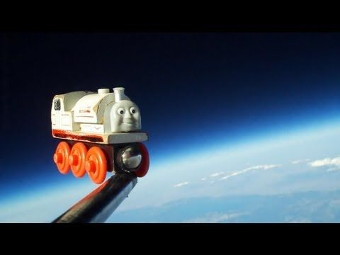 A father sends his son's favorite you train into space (: