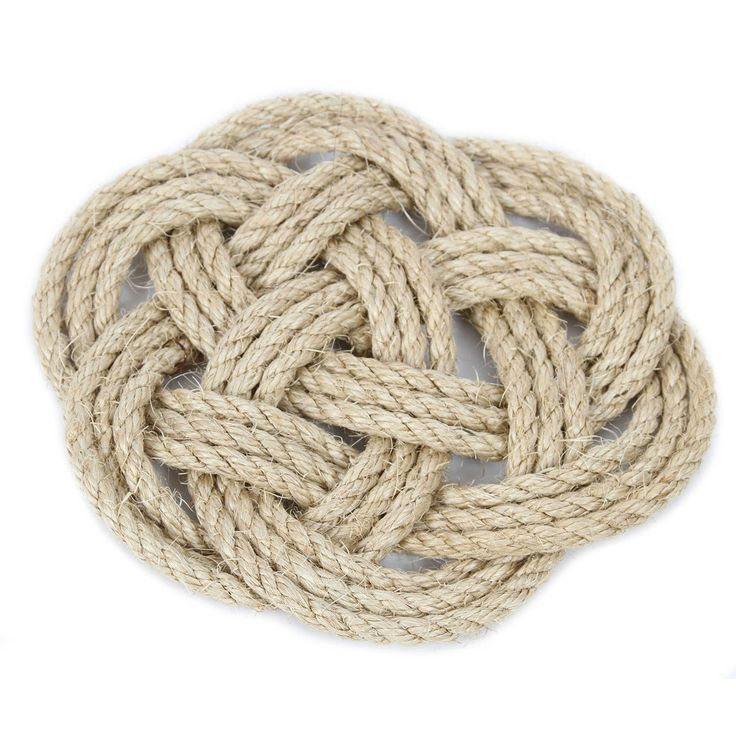 Latitude 38 9-Inch Nautical Jute Rope Knot Trivet