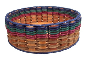 """Foxcreek Baskets: 13"""" Lazy Susan-Nvy,Burg or Burg, Green Spins, has sides so nothing spins off."""