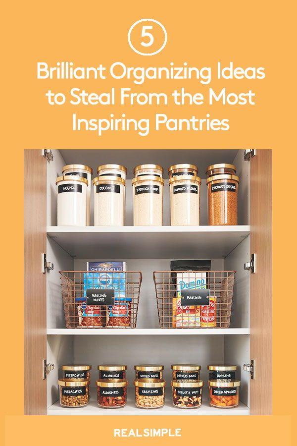 7 Genius Pantry Organization Ideas And Pantry Storage Ideas Pantry Organization Diy Organization Solutions Organization