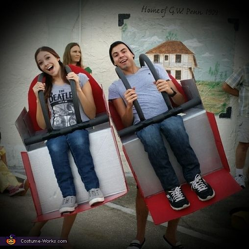 Angel: My boyfriend and I decided to make our own rollar coaster couples costume this year. It was definitely a lot of work but it was worth it. We constructed our...