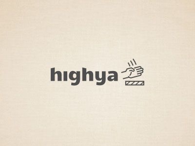 Highya Logo Design Simple Line Art Used in Logo Design | 25 Beautiful Examples