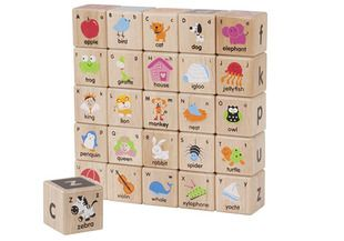 These ABC blocks are perfect for stacking, building and learning the alphabet. - Alphabet blocks, Wonderworld toys, wooden alphabet blocks,
