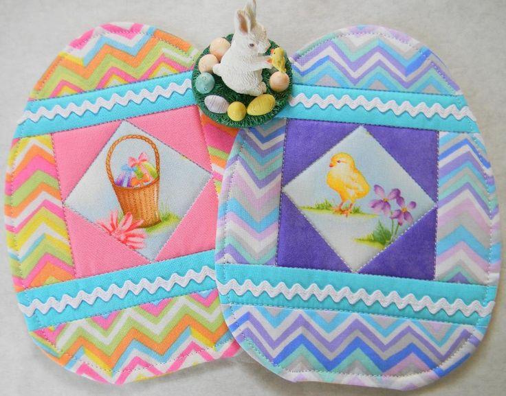 Egg Mug Rug Easter Breakfast Morning Coaster Mat Egg