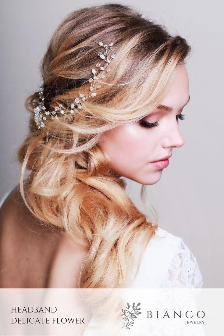 Opaska ślubna Delicate Flower   Wedding headband Delicate Flower  wedding inspiration / wedding hairstyle / beautiful wedding / glamour wedding/