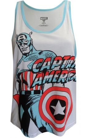 Marvel Comics Captain America Tank Top