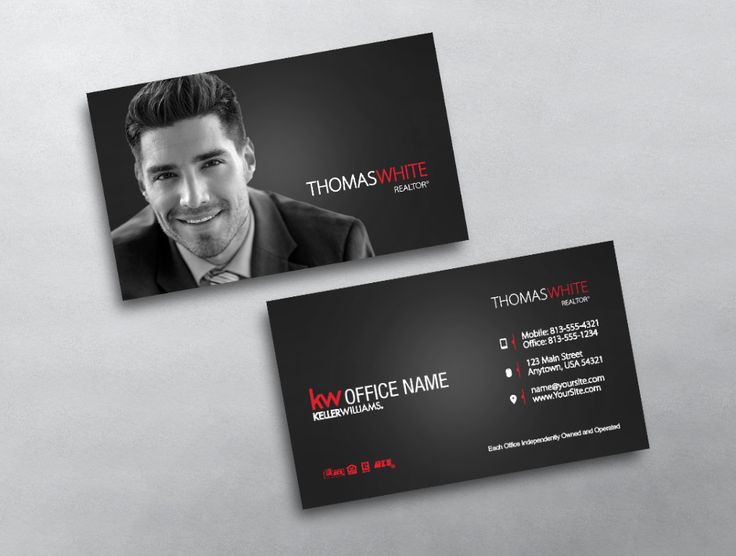 This Minimal Modern Keller Williams Business Card Is Perfect To Showcase Your Professional Photo