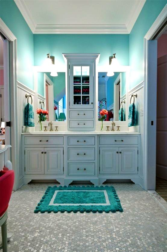 Tiffany Blue Bathroom - - More Tiffany Blue Kitchen Ideas Here: http://homeproductreviews.siterubix.com/tiffany-blue-kitchen-decor