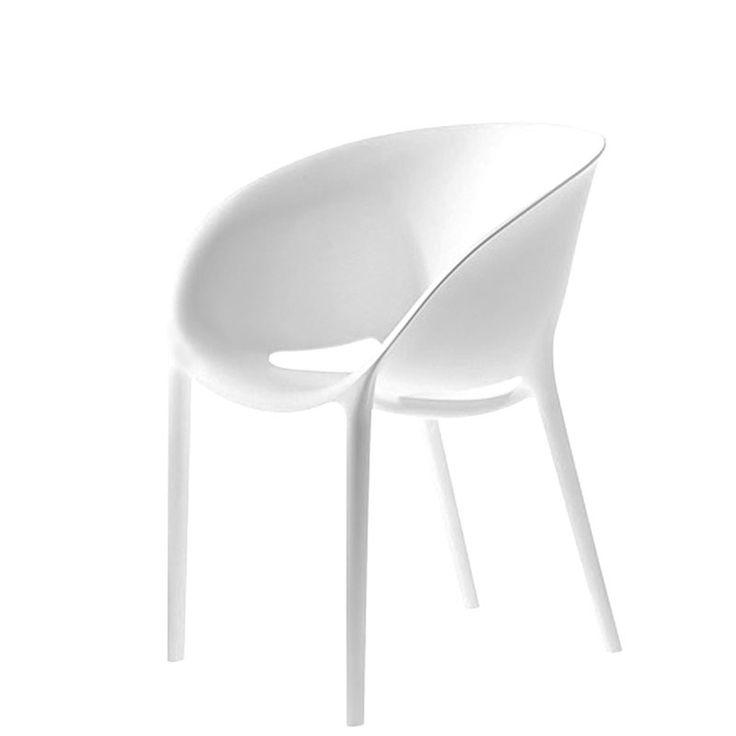 Chaise Soft Egg - blanc