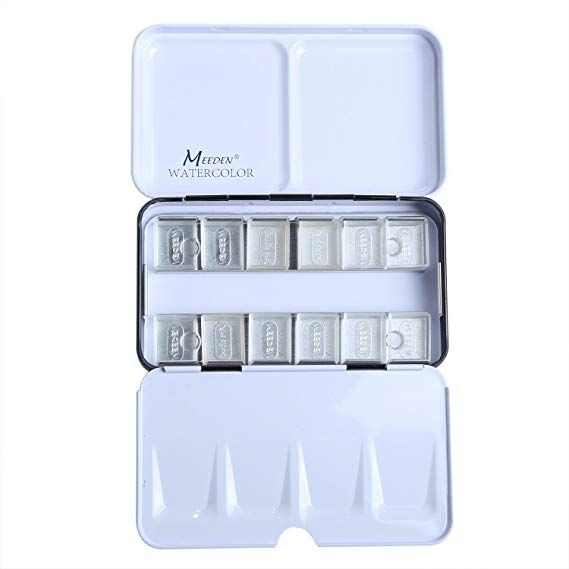 Amazon Com Meeden Empty Watercolor Tins Palette Paint Case Metal