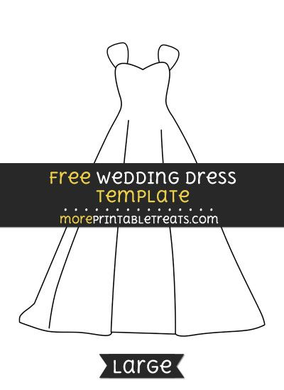 free wedding dress template large shapes and templates