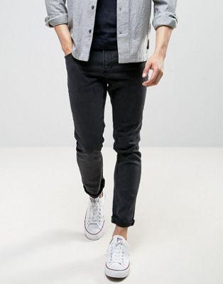 Черные выбеленные облегающие джинсы LDN DNM