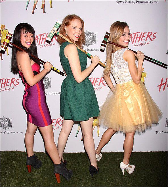 Alice Lee, Jessica Keenan Wynn and Elle McLemore Heathers carpet