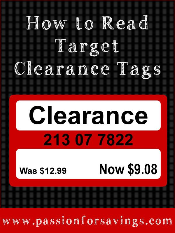 How to Read a Target Clearance Tags! This post explains what all the extra numbers mean on the tags, You'll never shop Target the same way again!