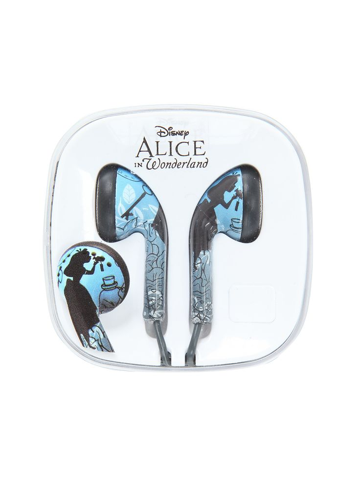 <p>Tune out the world and turn up the music with these Alice silhouette earbuds from Disney's <i>Alice in Wonderland</i>.</p> <ul> <li>Imported</li> </ul>