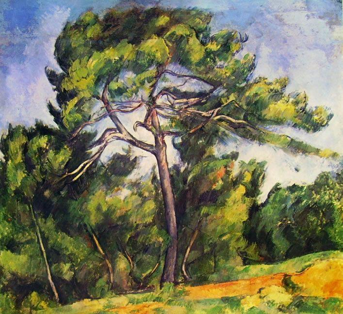 """Paul Cézanne """"Il grande pino"""", 1892-1896. San Paolo del Brasile, Museu de Arte."""