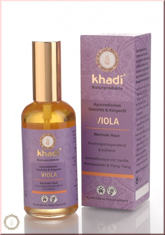 Face- and Body Oil Viola - A daily after shower body oil with herbs & oils to balance & benefit all skin types. It will keep skin cool, moisturised, remove blemishes & improve skin tone. Herbs & oils should hydrate and prevent photo toxicity. Directions: Take 10-15ml and massage face & body. The oil will absorb very fast. Always spray rose water on face & body after massage to hydrate skin.