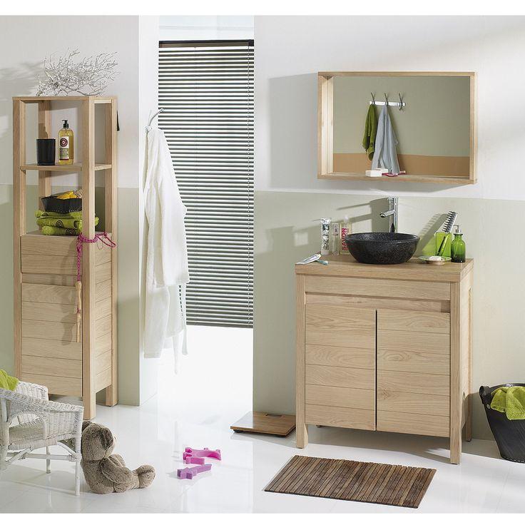 33 best salle de bain images on Pinterest Bathroom, Bathroom - meuble salle de bain en chene massif