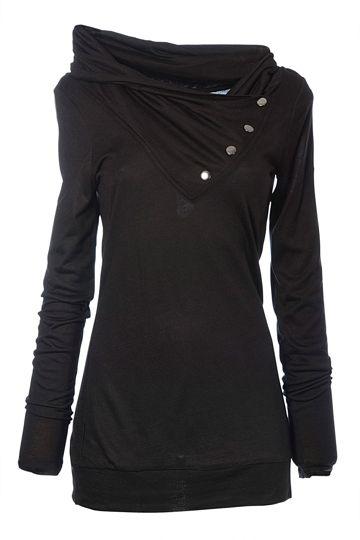EDC clothing Wrap High Neck Viscose Tee - Womens Tees - Birdsnest Fashion Clothing
