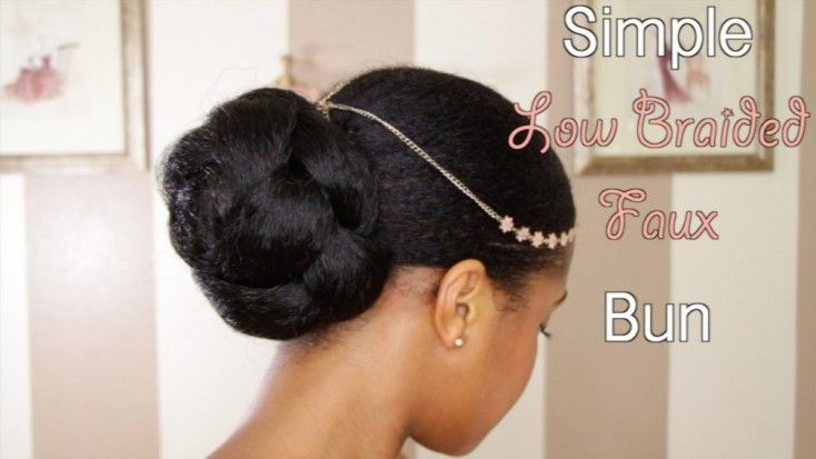 How To: Simple Low Faux Bun on Natural Hair by Toni of My Natural Sistas | Read on to see how to achieve this simple, low faux bun on natural hair... |  #HairTutorials #HeatlessStyles #MyNaturalSistas #NaturalHair #ProtectiveStyles #Toni | http://www.mynaturalsistas.com/pretty-sistas/hair/simple-low-faux-bun-on-natural-hair/