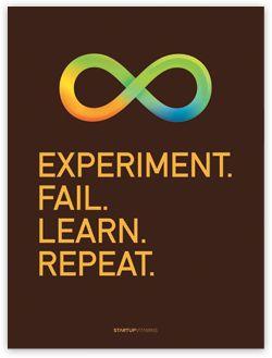 Experiment. Fail. Learn. Repeat.