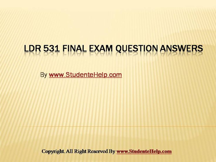 Make your dream to Ace your exams a reality. Experience the easiest way to handle exam pressure with the good tutorial like us. StudenteHelp.com provide LDR 531 Final Exam Latest University of Phoenix Final Exam Study and Entire Course question with answers LAW, Finance, Economics and Accounting Homework Help, UOP course Individual Assignment, UOP Course Tutorial, Final Exam Study Guides, individual assessment etc. visit us to learn more!