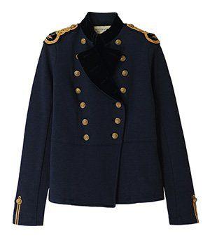 Acheter Veste d'Officier pour Femme – Bleu marine Boutons dorés – Ralph Lauren