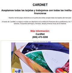 Aceptamos todas las tarjetas y trabajamos con todas las instituciones financieras - CARDNET