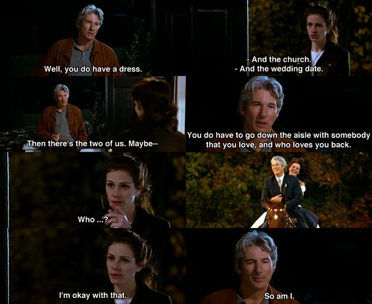 Well, you do have a dress ~ Runaway Bride (1999) ~ Movie Quotes