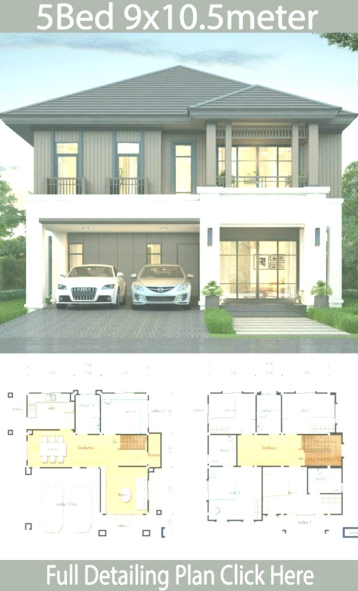 House Design Plan 9 10 5m With 5 Bedrooms Modernhouse In 2020 Duplex House Design Home Design Plans House Design