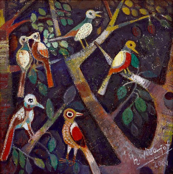 H Widayat - Burung-Burung di Pohon