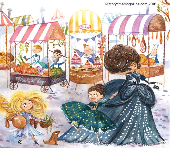 Mean sister and mother in the fairytale Diamonds and Toads from Storytime Issue 18. Illustration by Agnes Ernoult (http://cargocollective.com/agnesernoult) ~ STORYTIMEMAGAZINE.COM