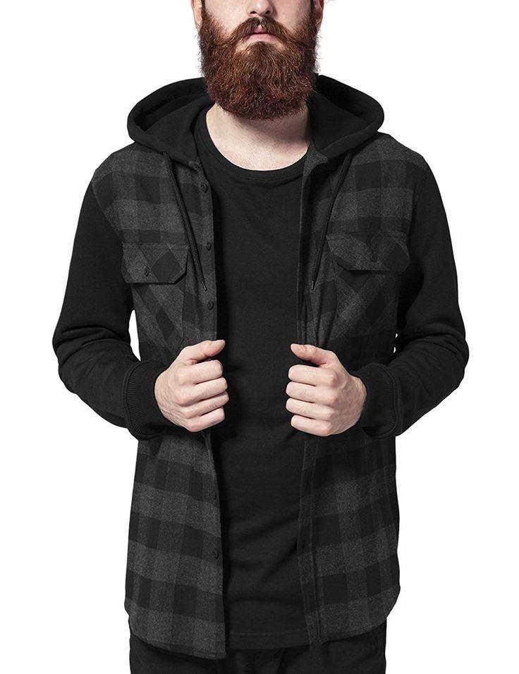 Superisparmio's Post Camicia Uomo  Urban Classics Hooded Checked Flanell Sweat Sleeve Shirt Camicia con cappuccio da Uomo.  In offerta a solo 25.00   http://ift.tt/2eL2lA1